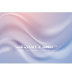 Abstract elegant rose quartz and serenity wavy vector image vector image