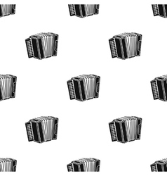 Accordion icon in black style isolated on white vector