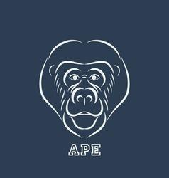 Ape logo vector image vector image
