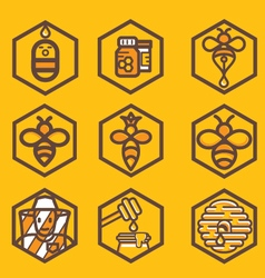 apiculture icons vector image vector image