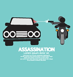 Assassination Shooting From The Motorcycle vector image vector image