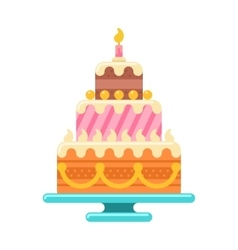 Birthday cake vector image vector image