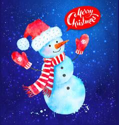 christmas of snowman vector image