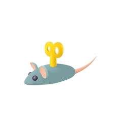 Clockwork mouse icon in cartoon style vector