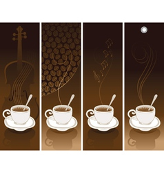 coffee violin vector image vector image