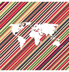Color line world map vector