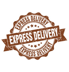 express delivery stamp sign seal vector image vector image
