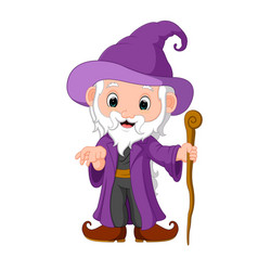 funny witch cartoon vector image vector image