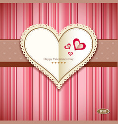 Happy valentine day greeting card design vector