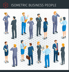 isometric business people vector image vector image