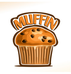 Logo for traditional muffin vector