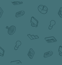 marketing outline isometric pattern vector image