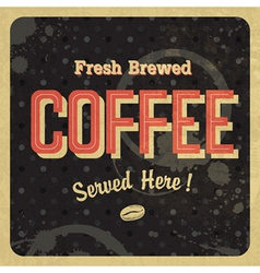 retro coffee poster vector image vector image