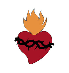 Sacred heart icon image vector