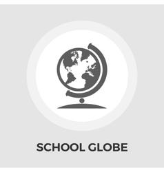 School globe flat icon vector