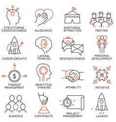 Set of icons related to business management - 29 vector