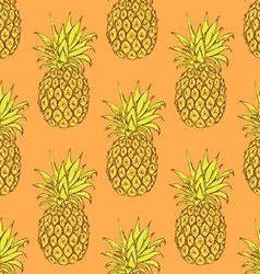 Sketch tasty pineapple in vintage style vector image vector image