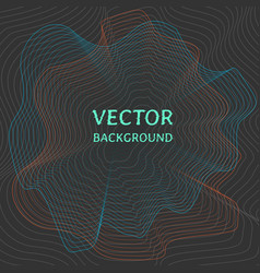 technology background with sound waves vector image vector image