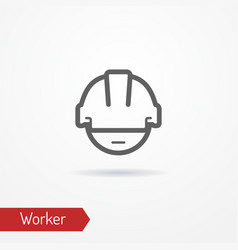 Worker face icon vector