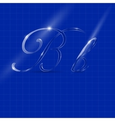Letter b in italics writing vector