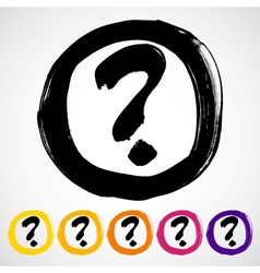 Hand-painted question mark sign  icon vector