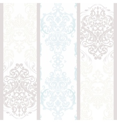 Vintage damask floral ornament pattern vector