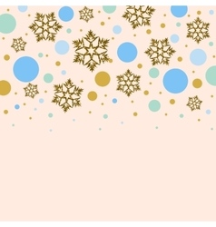 Background with golden snowflakes and colorful vector image