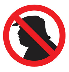 Anti president donald trump silhouette sign vector
