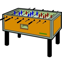 Foosball table vector
