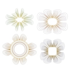 Collection of guilloche rosettes vector