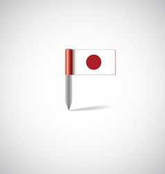 Japan flag pin vector