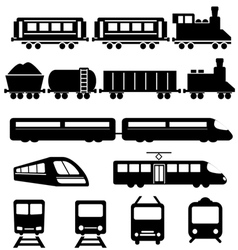 Train subway and railways vector
