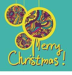 postcard with christmas balls vector image