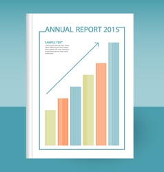 Annual report grow graph arrow vector