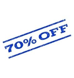70 percent off watermark stamp vector