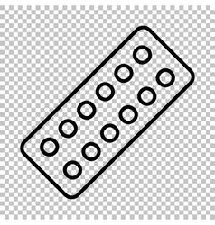 Pills sign line icon vector