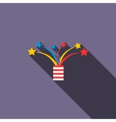 Firework icon in flat style vector image