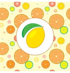 Citrus design template vector