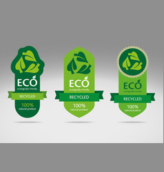 Eco label set 3 vector