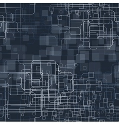 A trendy blue tech styled background vector image