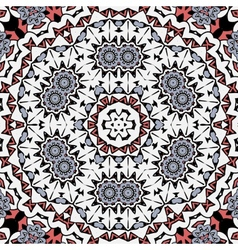 Abstract circle ornate floral mandala ornament vector image