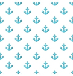 Anchor pattern cartoon style vector image vector image
