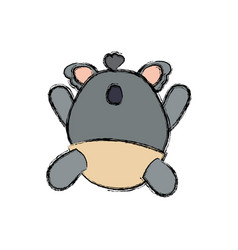 Baby koala stuffed animal faceless vector