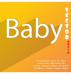 Baby on board icon symbol flat modern web design vector