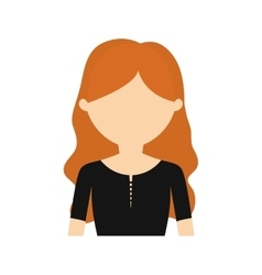 character young woman black shirt vector image
