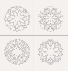 Circular ornaments set vector