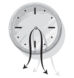 Clock with weak hanging pointers vector