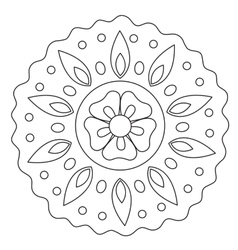 Coloring wave floral mandala vector