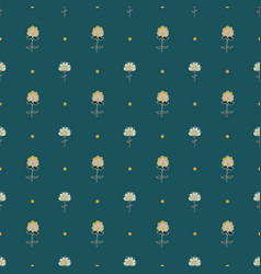 cute seamless pattern with hand-drawn flowers vector image vector image