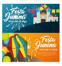 festa junina design vector image